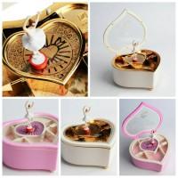 kado valentine love heart balerina kotak musik anniversary gift