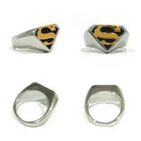 Cincin Superman Classic Logo Silver Gold