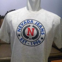 Tshirt/t-shirt/kaos/oblong/sablon Nevada Jeans