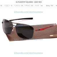 PLAINTIFF SQUARED - GRAY RED POLARIZED