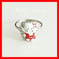Cincin Anak Bayi Hello Kitty CCA01 Silver Perak 925 Lapis Emas