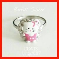 Cincin Anak Bayi Hello Kitty CCA03 Silver Perak 925 Lapis Emas