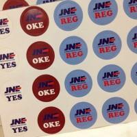 Stiker JNE bulat kecil pengiriman shipping (1 pak isi 60)