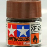 tamiya acrylic XF-28 Dark Copper ( cat gundam model kit )