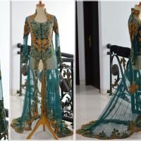 Kebaya Pengantin wedding dress ekor modern muslimah tile brokat payet