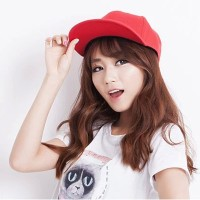 C15319 topi baseball korea polos merah