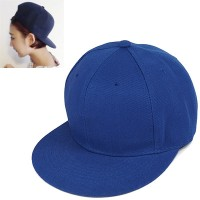 C15327 biru | topi baseball import polos gaya korea koleksi ichika