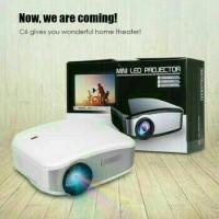 infokus Mini proyektor projector LED Cheerlux C6 1200 Lumens TV nobar