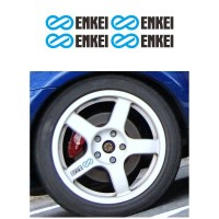 Sticker Velg Mobil Enkei WRC Tarmac Evo Small