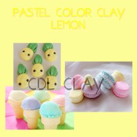 PASTEL COLOR CLAY - LEMON CLAY - ADONAN CLAY - AIR DRY CLAY