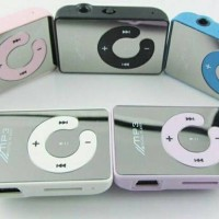 Mini MP3 Player TF Card With Small Clip Silver