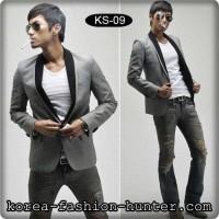 Jual jas pria murah, slim fit korea blazer KS09  | jaket pria Murah