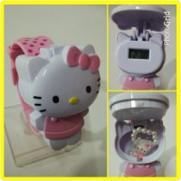 jam tangan hello kitty digital plus cincin