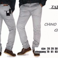 Celana Modish Pria Chino Zara Grey