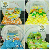 kasur bayi kelambu lipat/bantal guling/selimut bayi/baju bayi