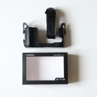 Fuji Film X-T10 Leather Half Case with Strap Black Colour