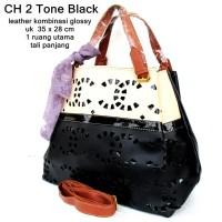tas wanita kulit gradasi chenel 2 warna