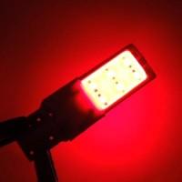Bohlam Lampu Senja T10 2 Sisi Led Plasma Strobo Merah