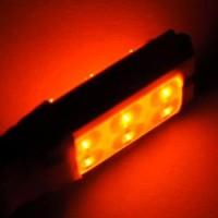 Bohlam Lampu Senja T10 2 Sisi Led Plasma Strobo Orange