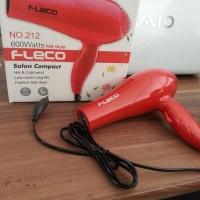 Fleco 212 Hair Dryer 600 Watt - Merah/Hijau