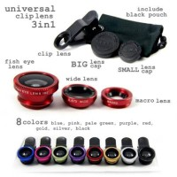 Universal Clips Lens / Lensa 3in1 (FISH EYE , WIDE , MICRO)