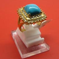 Cincin Titanium Import Gold Wanita / Cewek Model Virus