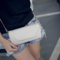 tas tangan jinjing clutch putih white wanita selempang valentino chloe