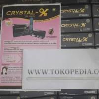 Jual Crystal X ori / Cristal-x / crystal-x / cx / new ori segel void Murah