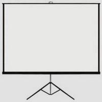 "Layar proyektor 70"" dengan tripod"