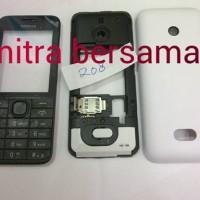 Chasing Kesing Nokia 208  White  Fullset  Oc