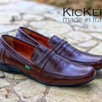 harga Sepatu Pantofel Kickers Slop Kulit Kr004 Tokopedia.com