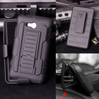 High Impact Armor Cover Casing Case Belt Clip Holster Nokia Lumia 820