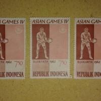 3 Pcs Perangko Belum Terpakai (Unused) Tema: Asian Games IV 1962