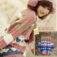 Its Love Dusty Pink sweater blouse atasan rajut wanita kpop korea snsd