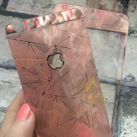 Tempered Glass Depan Belakang iPhone 5 - iPhone 5S - Rose Gold