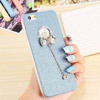 harga Casing Hp Unik Glitery Bow Blue Iphone 5/5s/6/6s/6+/6+s Tokopedia.com