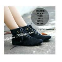 harga Sepatu Boots Korea Wanita Casual Pesta Kerja Suede Wedges Harga Murah Tokopedia.com