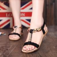 Sandal Kepang Flat Shoes untuk Perempuan Wanita Cewe Toko Online Murah