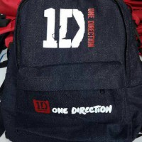 One direction denim backpack