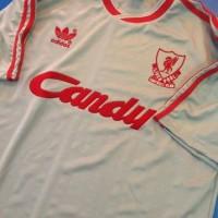 jersey retro grade AAA thailand liverpool away candy 1989