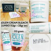 [113 gr Creme + 28 gr ACC ] JOLEN BLEACHING CREAM BPOM 141 gram