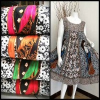 Dress Batik Klok tanpa Lengan -Putri Jepang- II