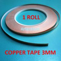 harga 3mm X 30 Meter Copper Tape Isolasi Tembaga Untuk Jalur Pcb 1 Roll Tokopedia.com