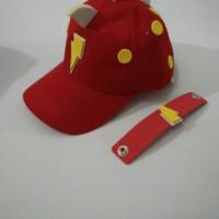 topi boboiboy halilintar merah
