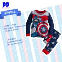 Piyama Anak Premium Pastel Captain America Pp 89102