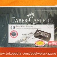 Penghapus Faber Castell Hitam (K) Asli - 1 box (40 pcs)