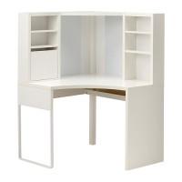 IKEA MICKE Meja Kerja / Belajar Sudut, Putih