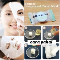 [Ecer 1 Pc] Bamboo DIY Compressed Facial Mask - Masker BAMBO Natural