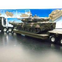 Diecast Truck Transporter Militer Tank Leopard - siku
