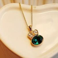 harga Kalung Kelinci Permata Hijau Necklace Rantai Jewelry Korea Tokopedia.com